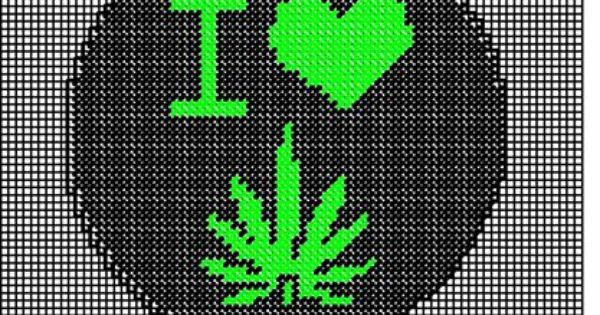 I Love Weed Plastic Canvas Plastic Canvas Patterns I