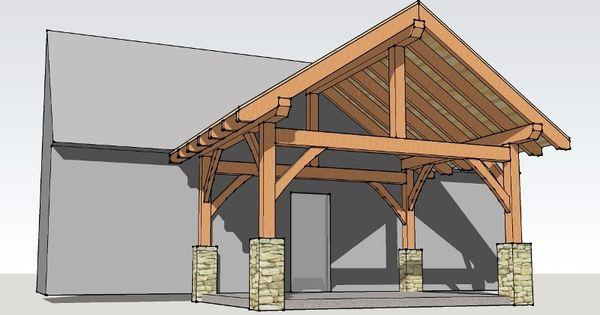 12x16 timber frame porch timber frame houses timber for Timber frame porch designs