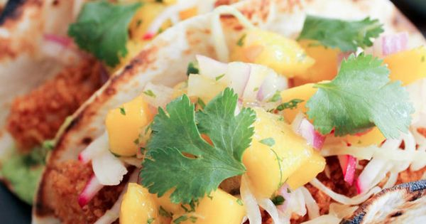 Mango salsa, Fish tacos and Tacos on Pinterest