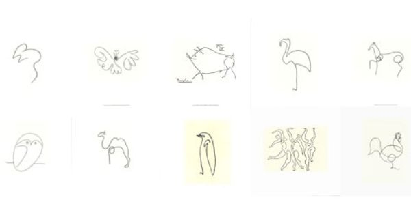Continuous Line Drawing Of Animals : Picasso continuous line drawings art