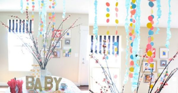 Sprinkle party - baby shower - love the BABY letters