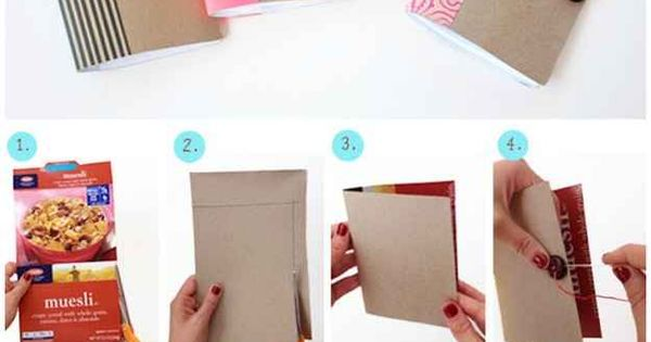 Mini Notebooks | 31 Things You Can Make Out Of Cereal Boxes