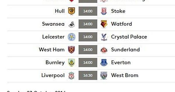 برنامج مباريات الجولة التاسعة من الدوري الإنجليزي الممتاز لكرة Middlesbrough Burnley Liverpool