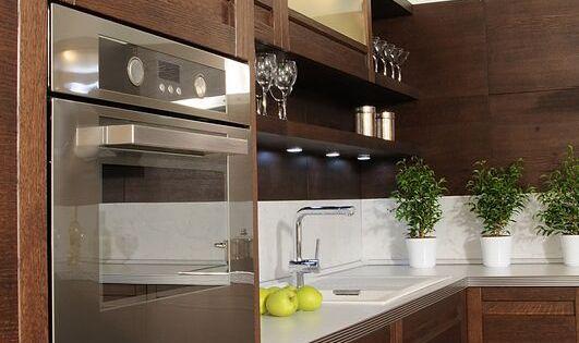 Modern Dark Wood Kitchen Cabinets For The Home Pinterest Dark
