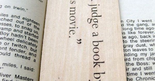 """Never Judge a Book By Its Movie"" bookmark on Etsy"