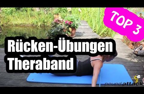 Rückentraining zu hause 3 Theraband Übungen für den