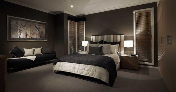 Black dark feature wall bedroom sexy elegant sleek for Bedroom feature wallpaper