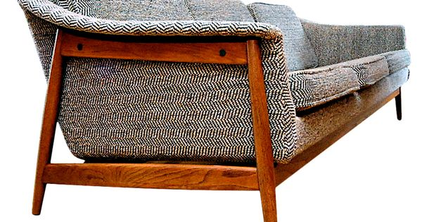 mid century modern furniture images | Dux Danish Modern Mid-Century Sofa at