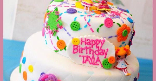 Lalaloopsy Birthday Cake Ideas | Two-Tier Lalaloopsy Button Cake | LalaloopsyParty.com