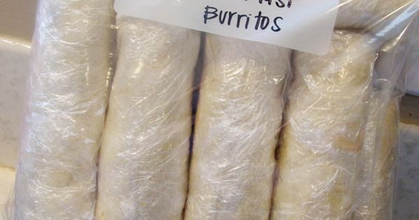 Freezer Breakfast Burritos. -I love the idea of having homemade breakfast burritos