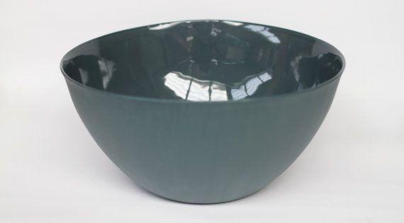 Large serving bowl porcelain slate colour on etsy 89 for Sur la table mixing bowls