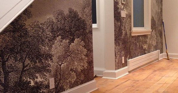Also along those lines installation of etched arcadia for Etched arcadia mural wallpaper