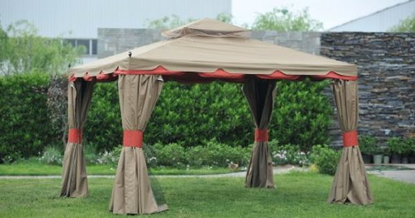 Hardtop Gazebo With Privacy Curtains Hardtop Gazebo Gazebo Patio Gazebo
