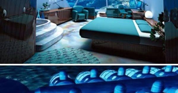 Poseidon Resort in Fiji. You can sleep on the ocean floor, and