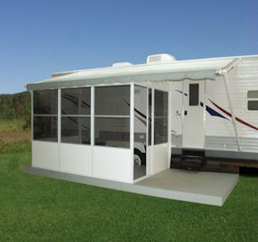Cover Tech Inc Rv Awnings And Screen Rooms Rv Screen Rooms Remodeled Campers Add A Room