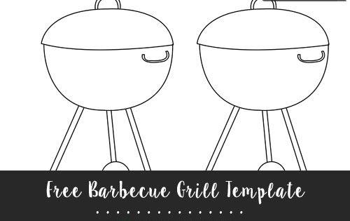 Free Barbecue Grill Template Medium Size Shapes And