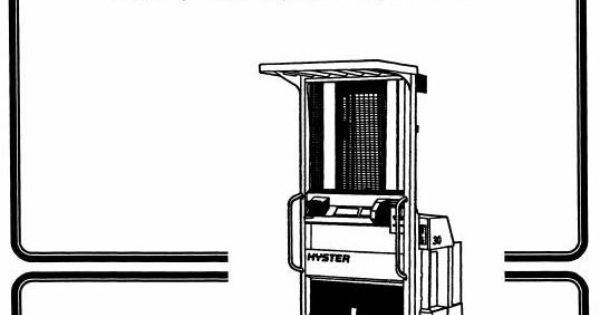 hyster electric reach truck type b174  r30es workshop manual