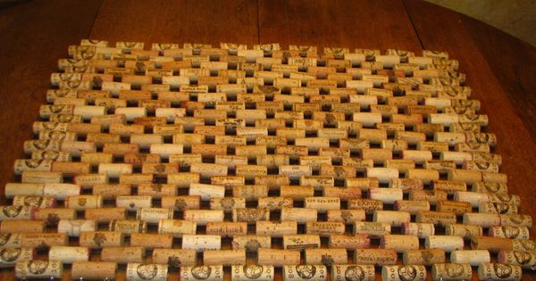 Wine cork doormat neat nifty crafts pinterest for Wine cork welcome mat