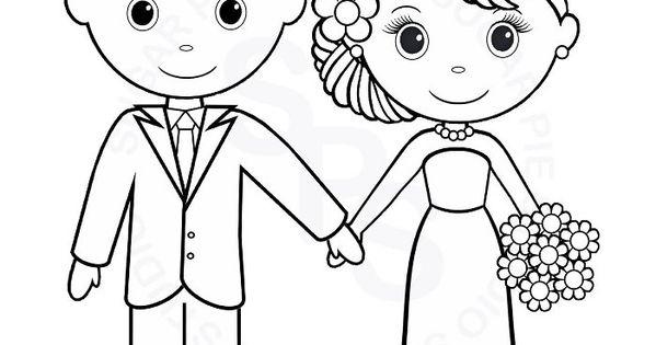 Coloriage mari et mari e a imprimer gratuit mariage bapt me anniversaire pinterest - Coloriage mariage a imprimer ...