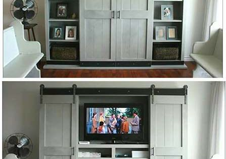 How To Build A Sliding Door Cabinet For A Tv Share Your