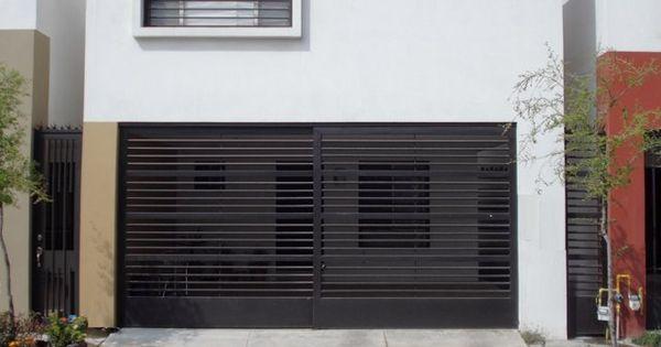 Port n de garage de herrer a prtones pinterest - Porton de garaje ...