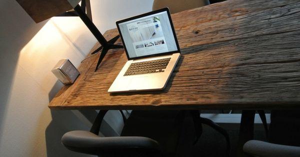 Tafel op maat  Inspiratie met oud hout  Pinterest