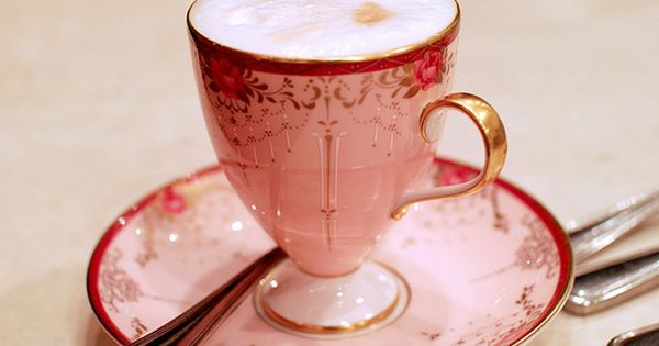 Dainty pink tea cup