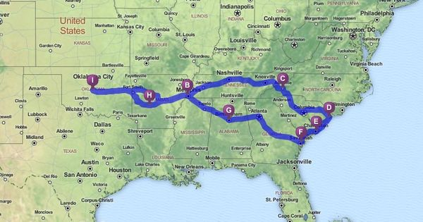 Driving Directions From Oklahoma City To Orlando Florida