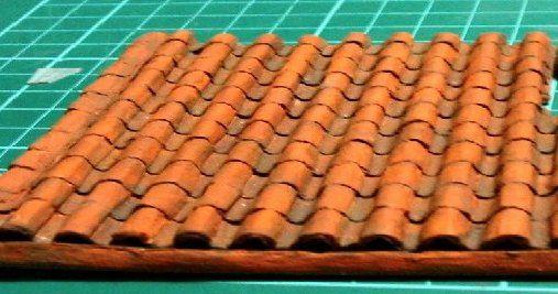 DOLLHOUSE MINIATURE  TERRA COTTA SPANISH BARREL TILE  ROOFING ...100 PIECES