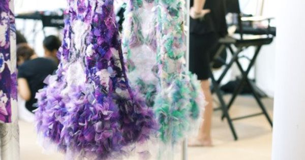 Prabal Gurung ruffled tulle dresses