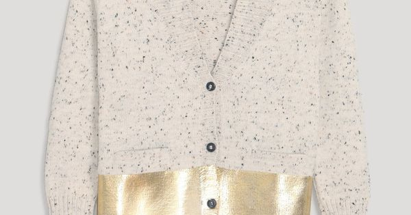 Rachel Comey gold dipped Shawl Collar Cardigan
