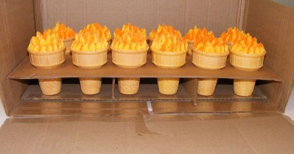 Opening ceremony party - Olympic torches cakes