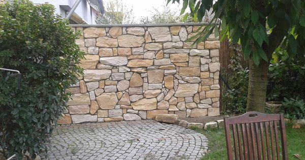 steinwand mediterran garten steinwand pinterest gardens. Black Bedroom Furniture Sets. Home Design Ideas