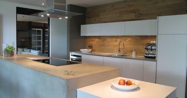 Sichtbeton Kücheninsel For the Home Pinterest Sichtbeton - küche eiche rustikal