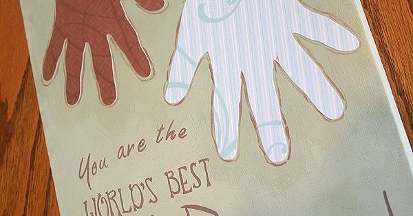 Fun craft and Father's day gift idea, kids handprints, RootsAndWingsCo: Hands Down