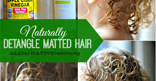 How to Detangle Matted Hair   Natural, Recipes and Hair style