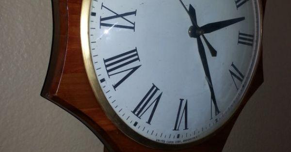 United Clock Corp Brooklyn Ny No 597 Pendulum By