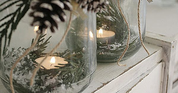 Elegant Pinecones & Greenery Candle Display Christmasdecor DIY Simple