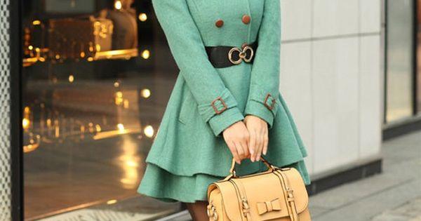 Mint Green Princess Coat.