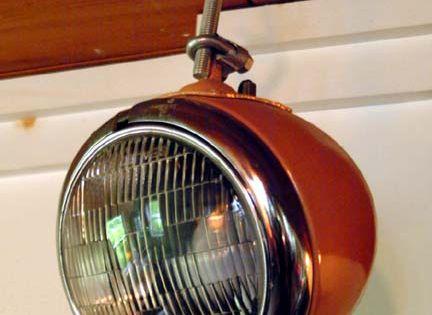 Lampe phare voiture d co maison pinterest phare for Decoration maison voiture