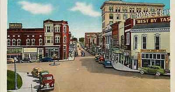 Johnson City Tennessee Tn 1940 Town Main Street East Antique