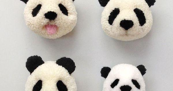diy panda pompom mehr zum selbermachen auf interessante geniale ideen pinterest. Black Bedroom Furniture Sets. Home Design Ideas