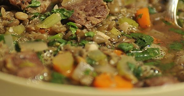 Lentil and Sausage Soup for a Cold Winter's Night Recipe | Soups n ...