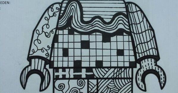VOORBEELD: opdracht lego figuur met lijn. - Klas 1: LIJN ...