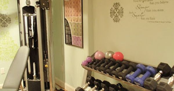 Home gym makeover organization tips pinterest