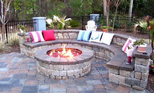 Outdoor Fire Pit - a must have for our outdoor space