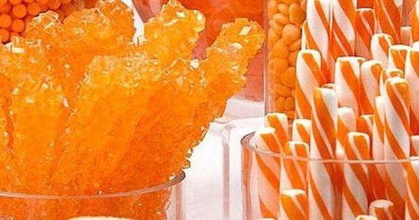 Orange Candy Buffet candy bar table orange