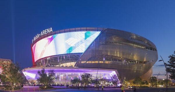 T Mobile Arena Populous Archinect Futuristic Architecture Arena Architecture