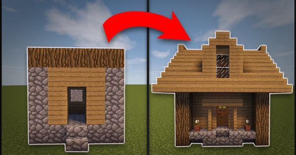 Minecraft How To Remodel A Village Small House - YouTube Видео