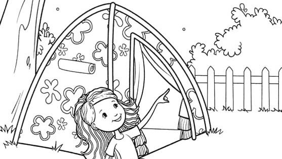 girl scout camping coloring pages groovy girls camp